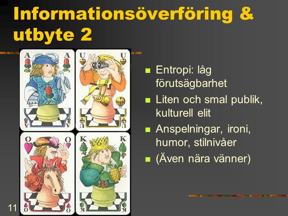 Informationsöverföring & utbyte 2