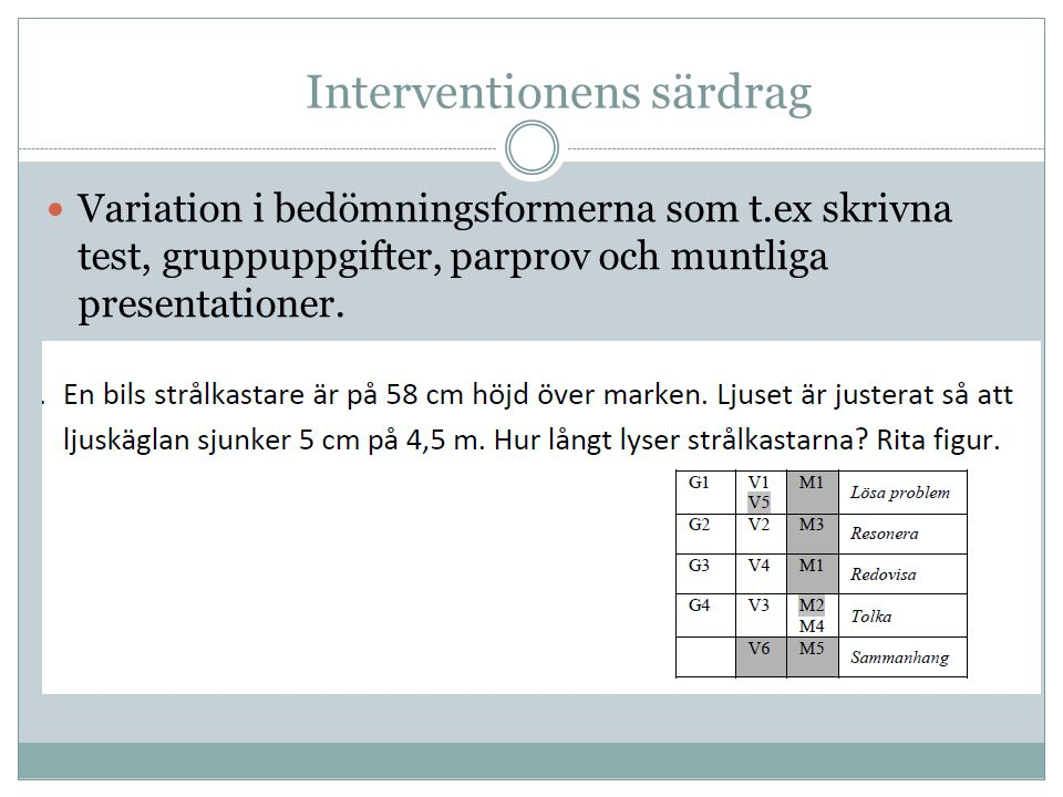 Interventionens särdrag