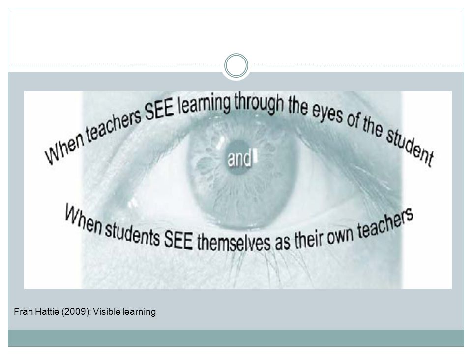 Från Hattie (2009): Visible learning