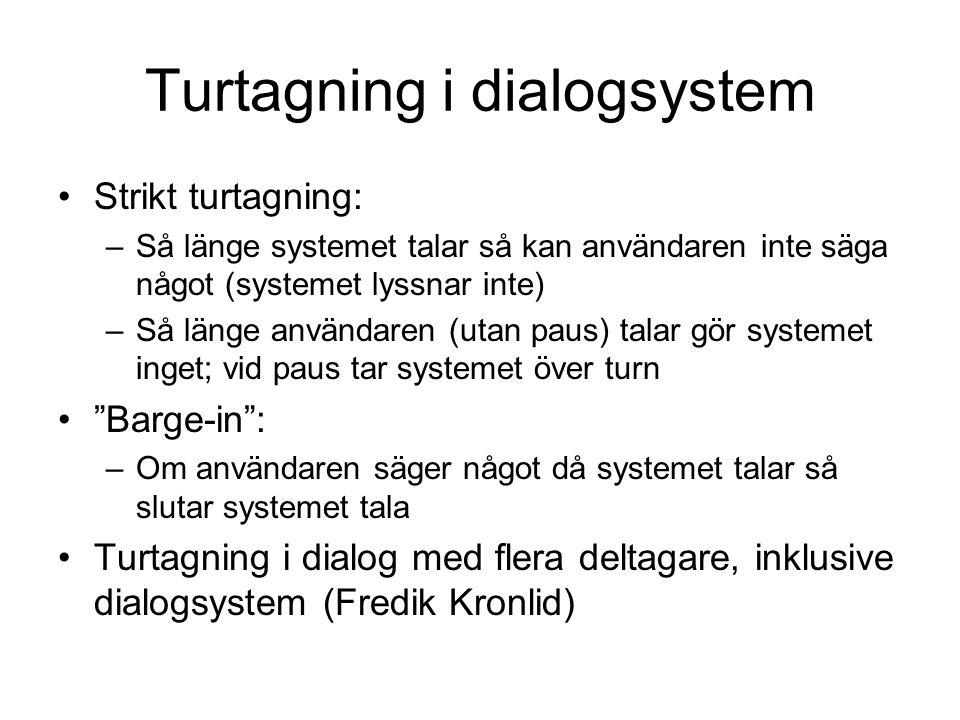 Turtagning i dialogsystem
