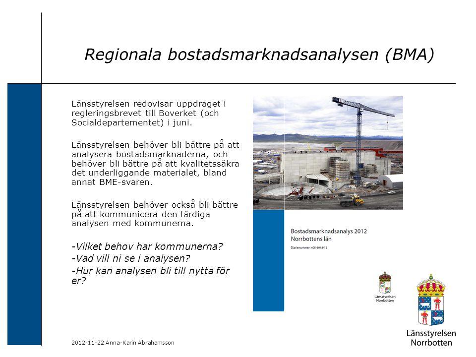 Regionala bostadsmarknadsanalysen (BMA)