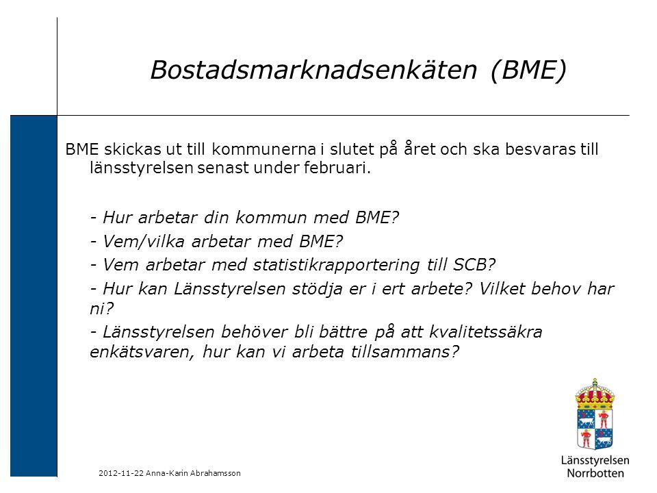 Bostadsmarknadsenkäten (BME)
