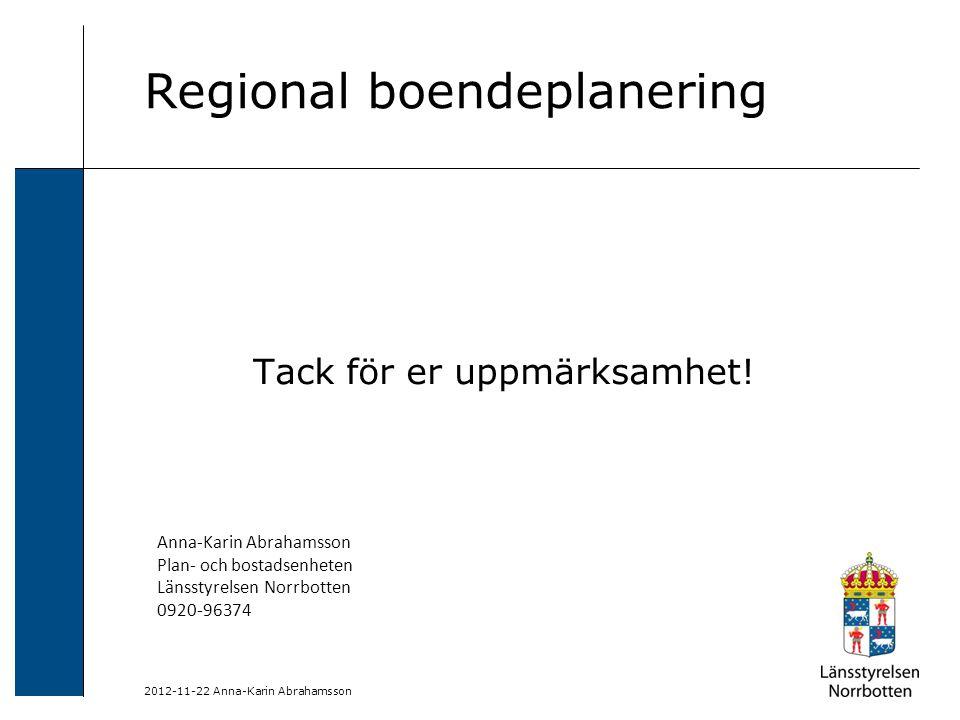 Regional boendeplanering