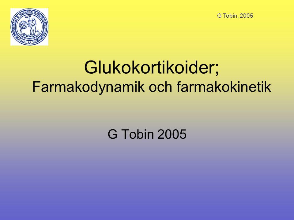 Glukokortikoider; Farmakodynamik och farmakokinetik