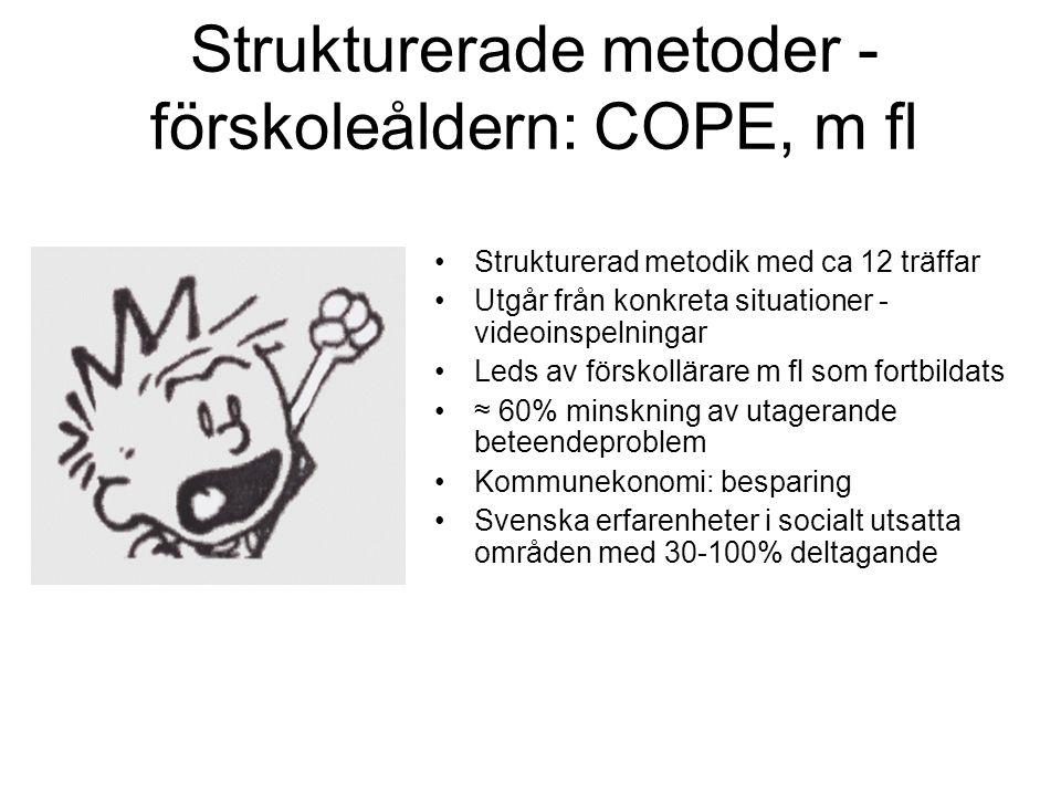Strukturerade metoder - förskoleåldern: COPE, m fl