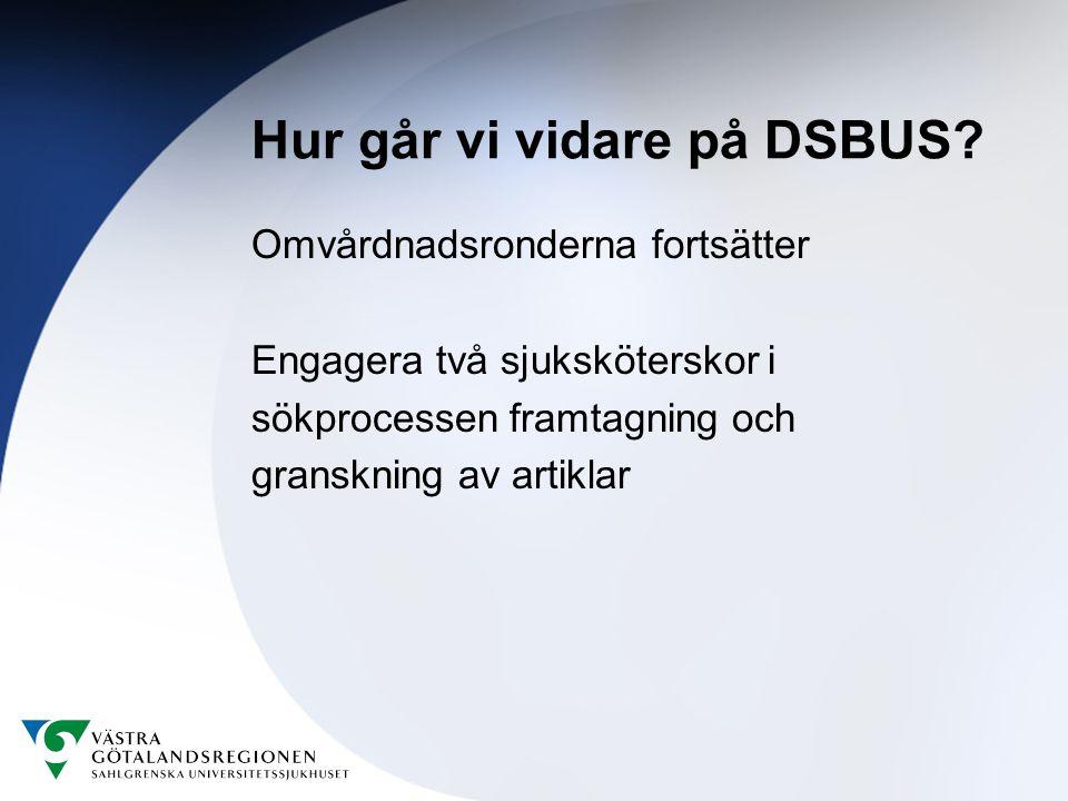 Hur går vi vidare på DSBUS