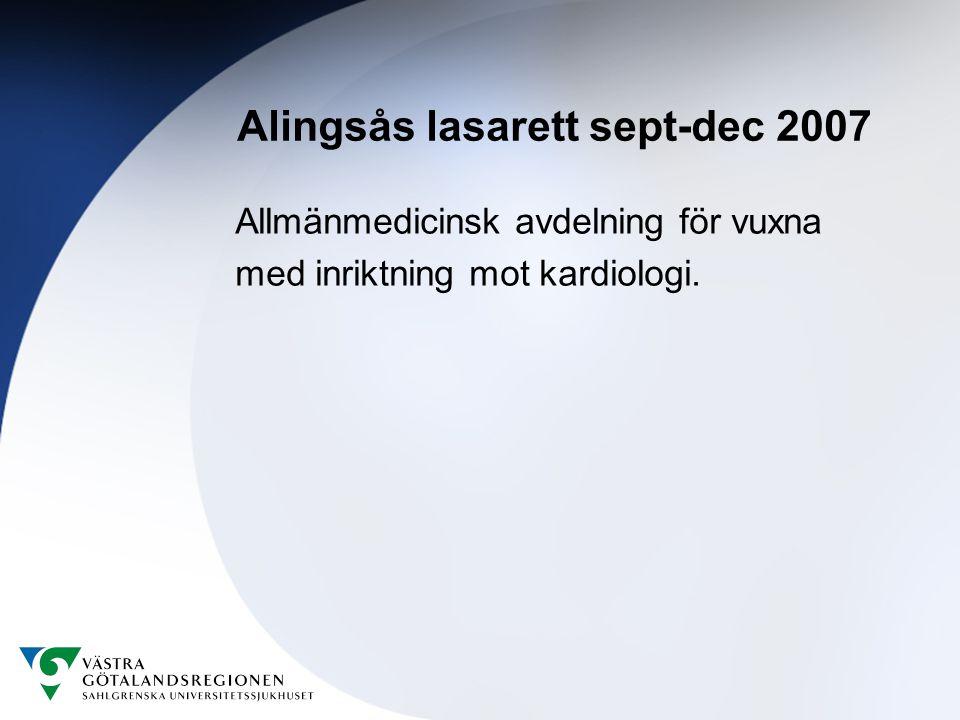 Alingsås lasarett sept-dec 2007