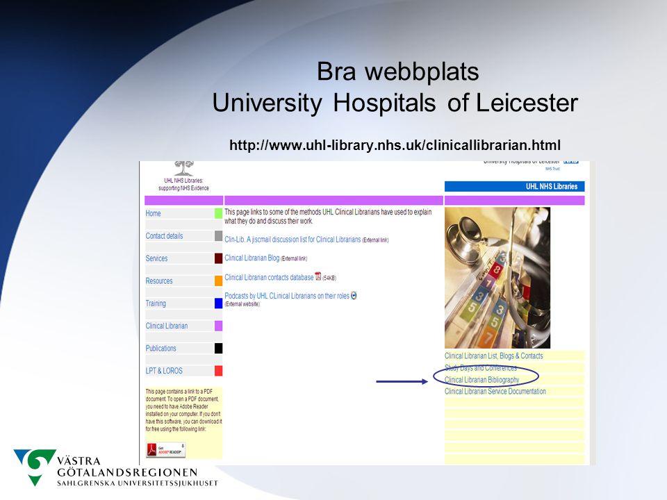 Bra webbplats University Hospitals of Leicester