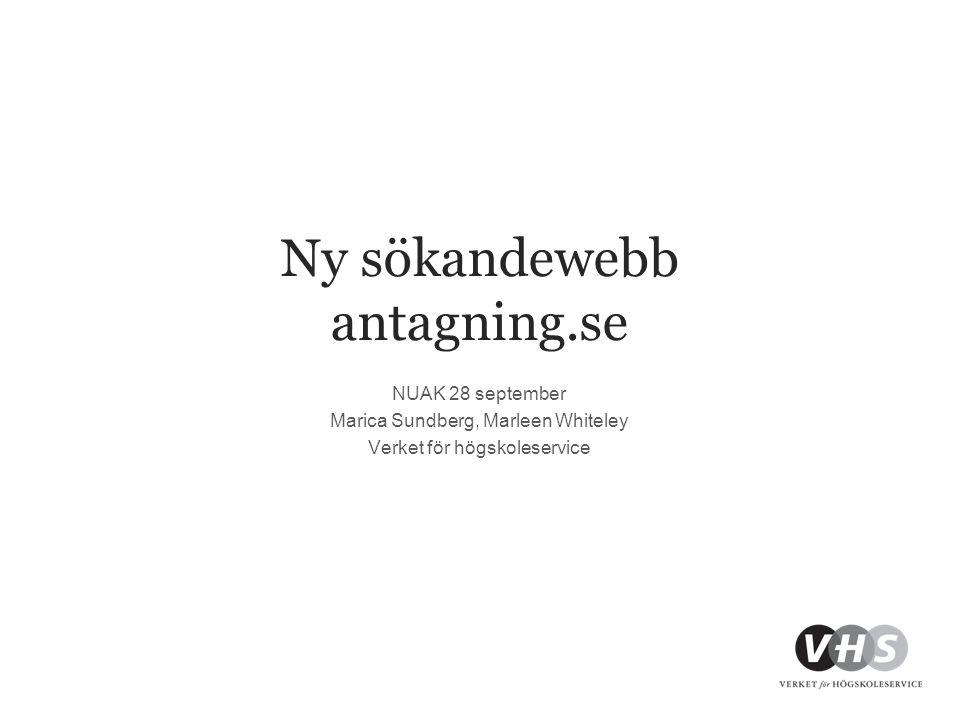 Ny sökandewebb antagning.se