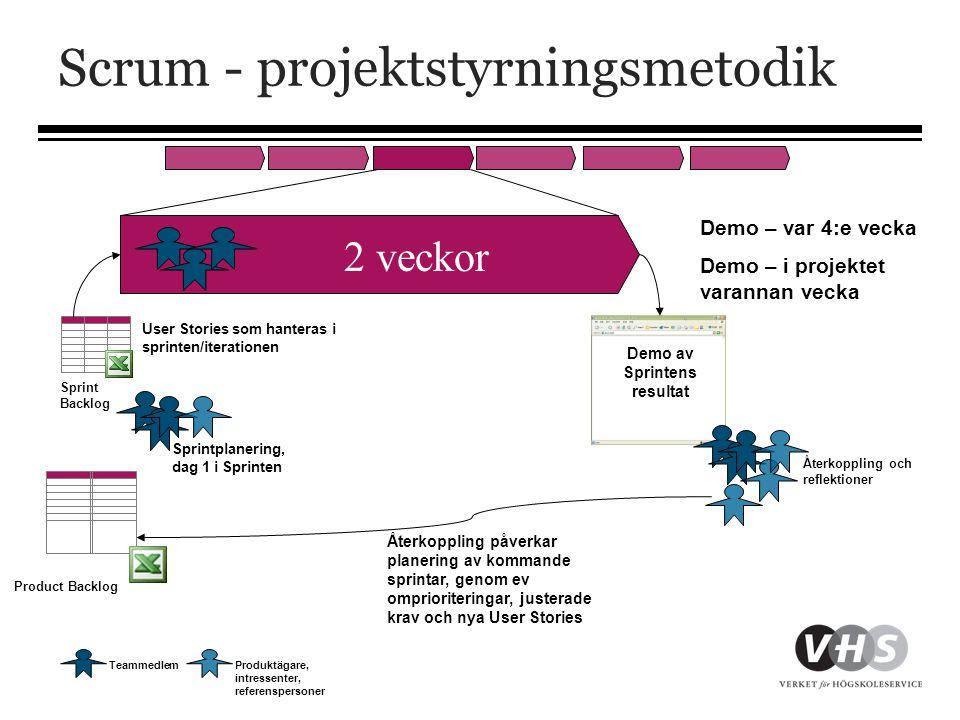 Scrum - projektstyrningsmetodik