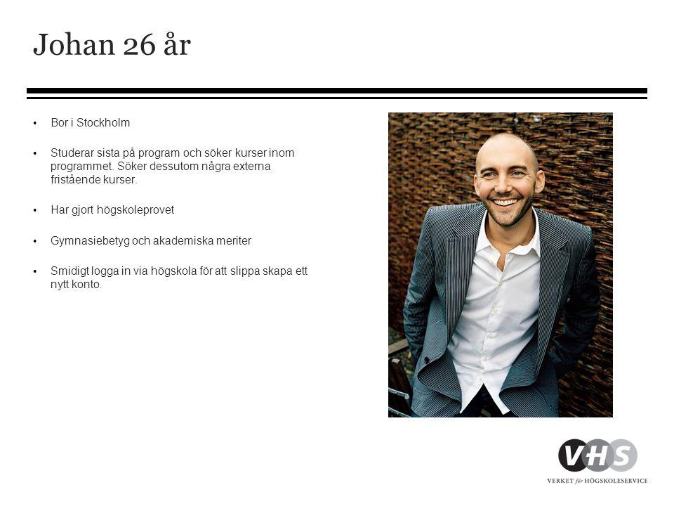Johan 26 år Bor i Stockholm