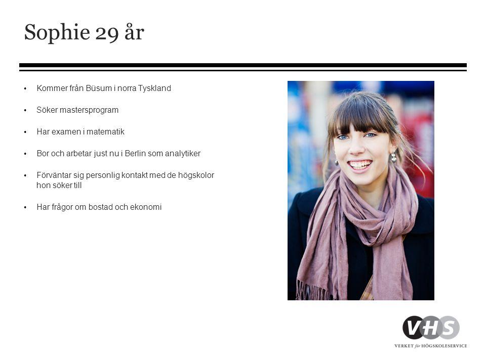 Sophie 29 år Kommer från Büsum i norra Tyskland Söker mastersprogram