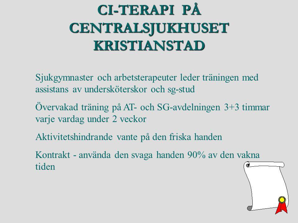 CI-TERAPI PÅ CENTRALSJUKHUSET KRISTIANSTAD