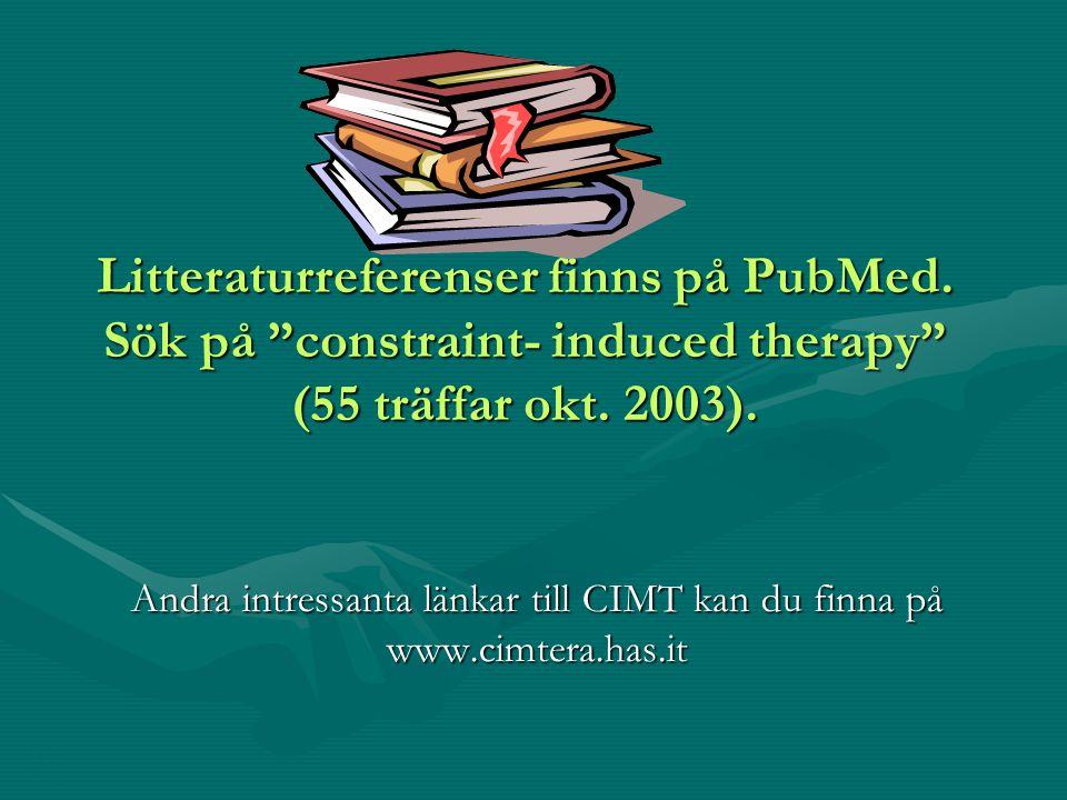 Andra intressanta länkar till CIMT kan du finna på www.cimtera.has.it