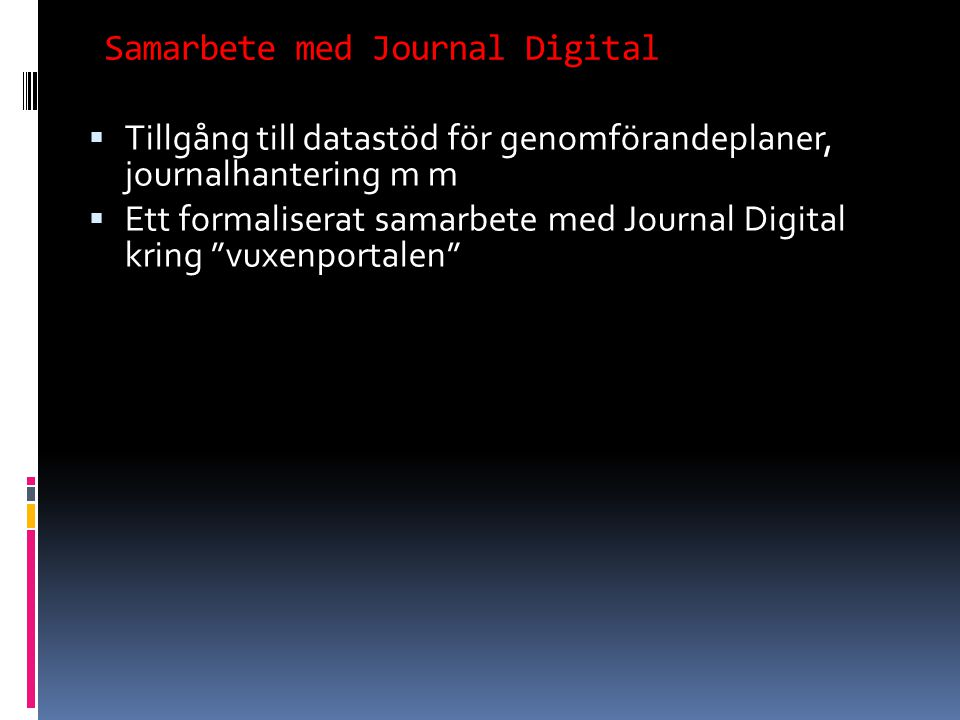 Samarbete med Journal Digital