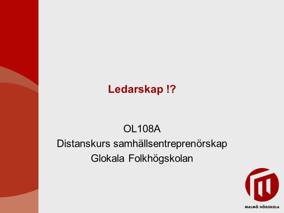 OL108A Distanskurs samhällsentreprenörskap Glokala Folkhögskolan