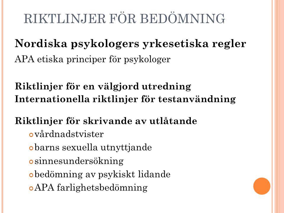 Nordiska psykologers yrkesetiska regler