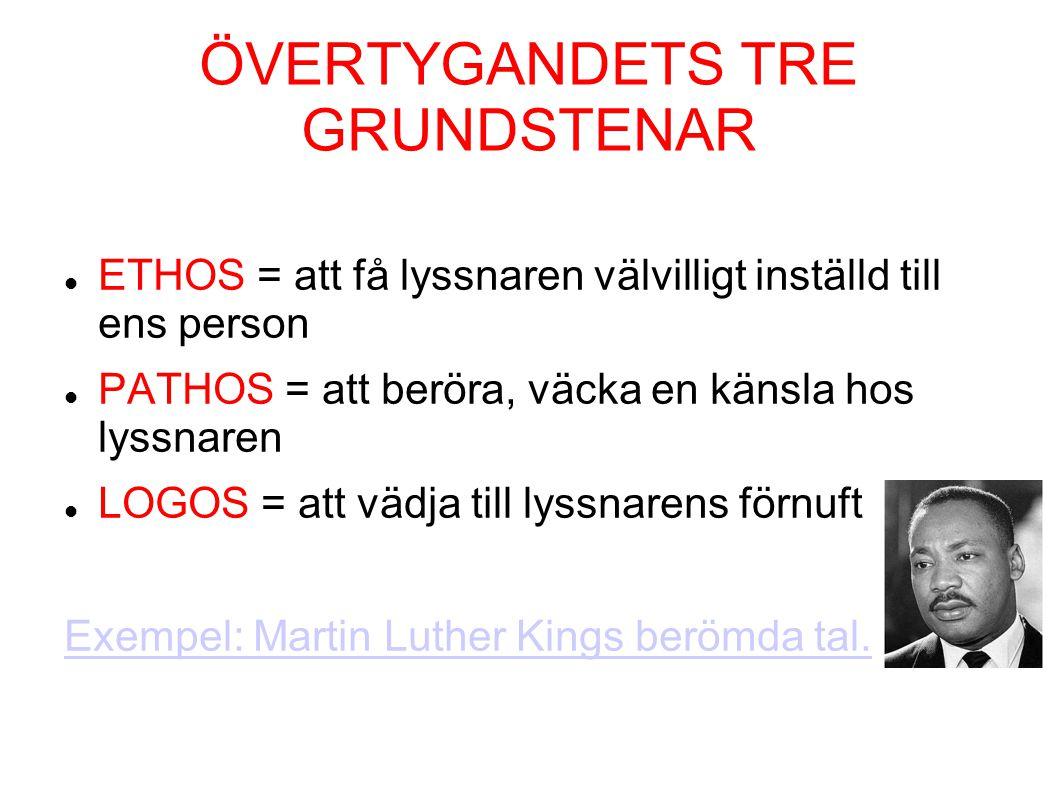 ÖVERTYGANDETS TRE GRUNDSTENAR