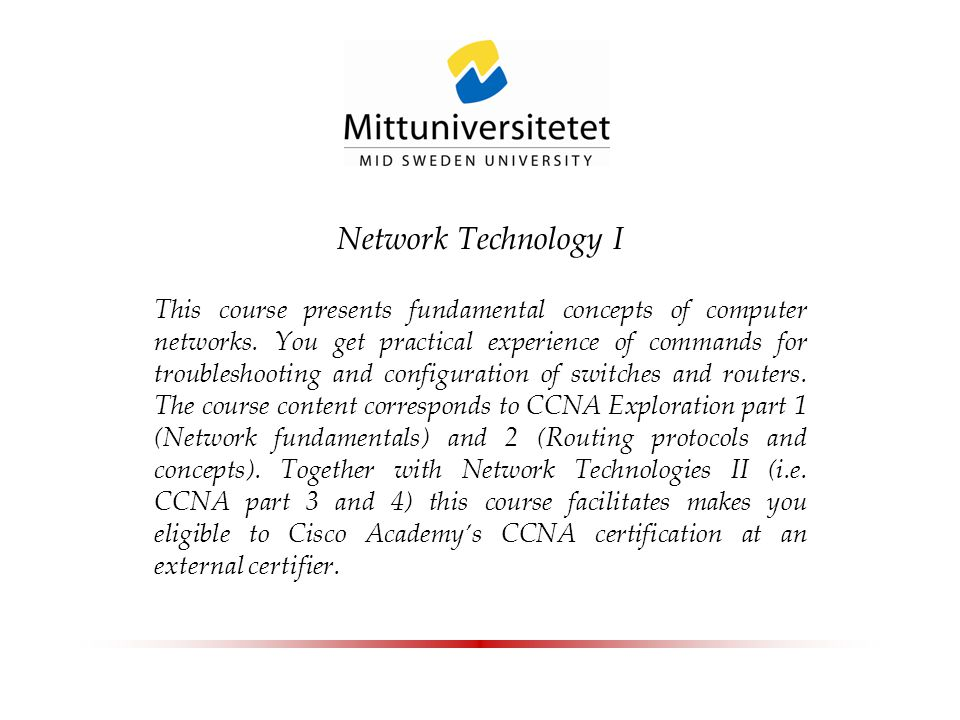 Network Technology I