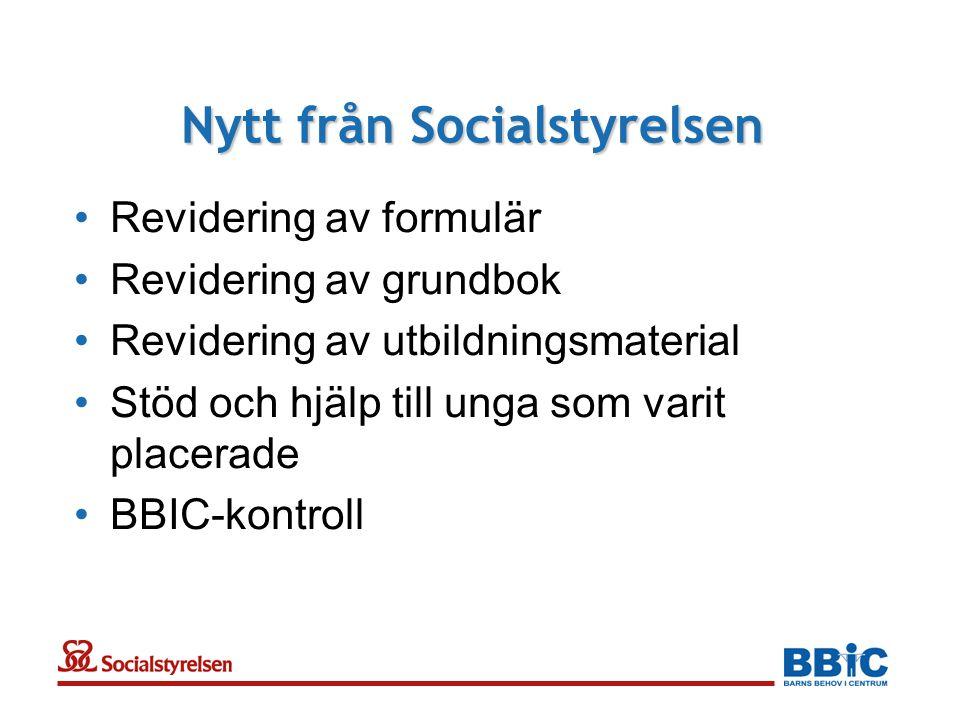 Nytt från Socialstyrelsen