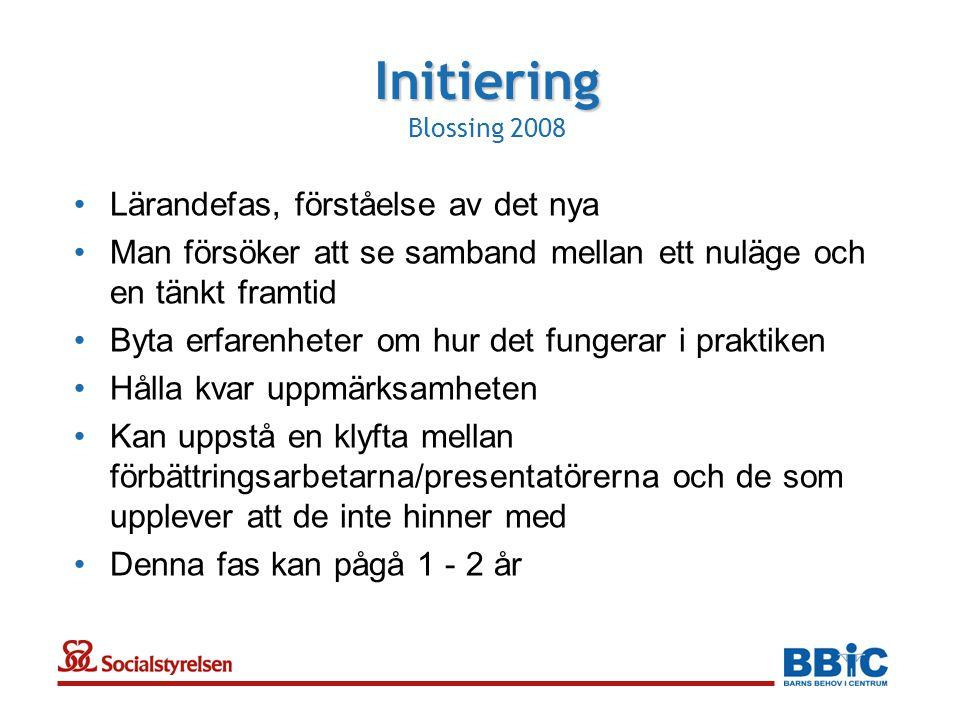 Initiering Blossing 2008 Lärandefas, förståelse av det nya