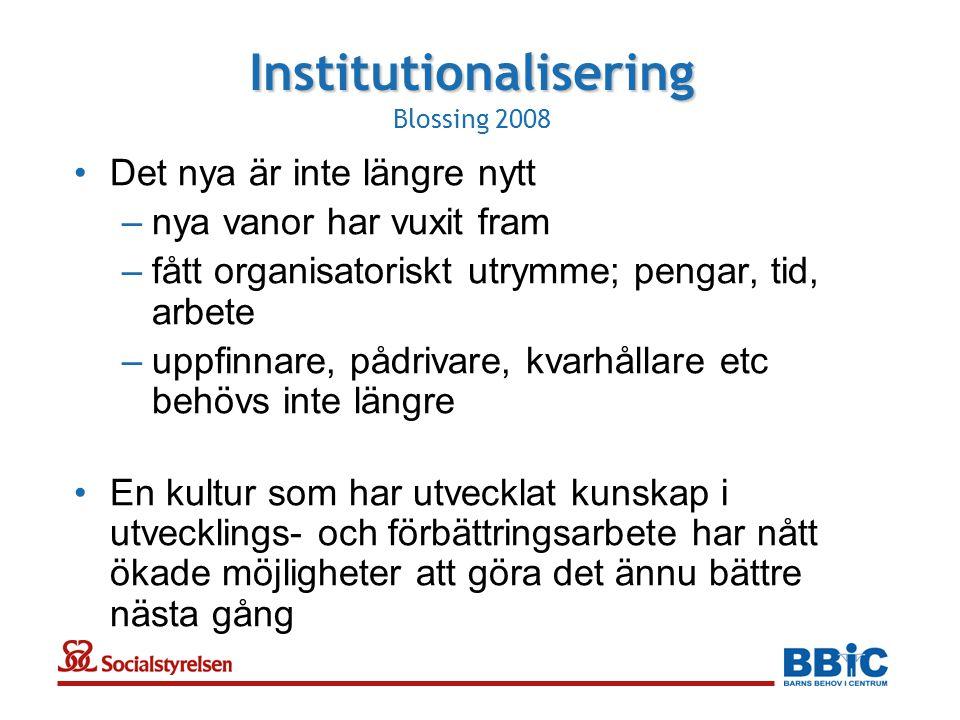 Institutionalisering Blossing 2008
