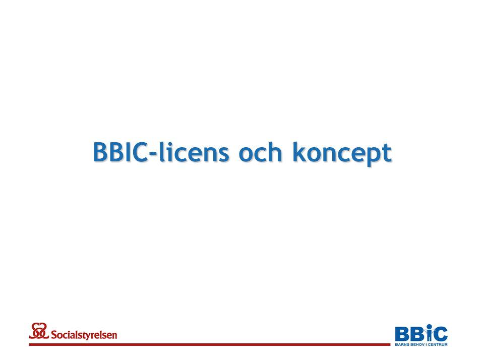 BBIC-licens och koncept