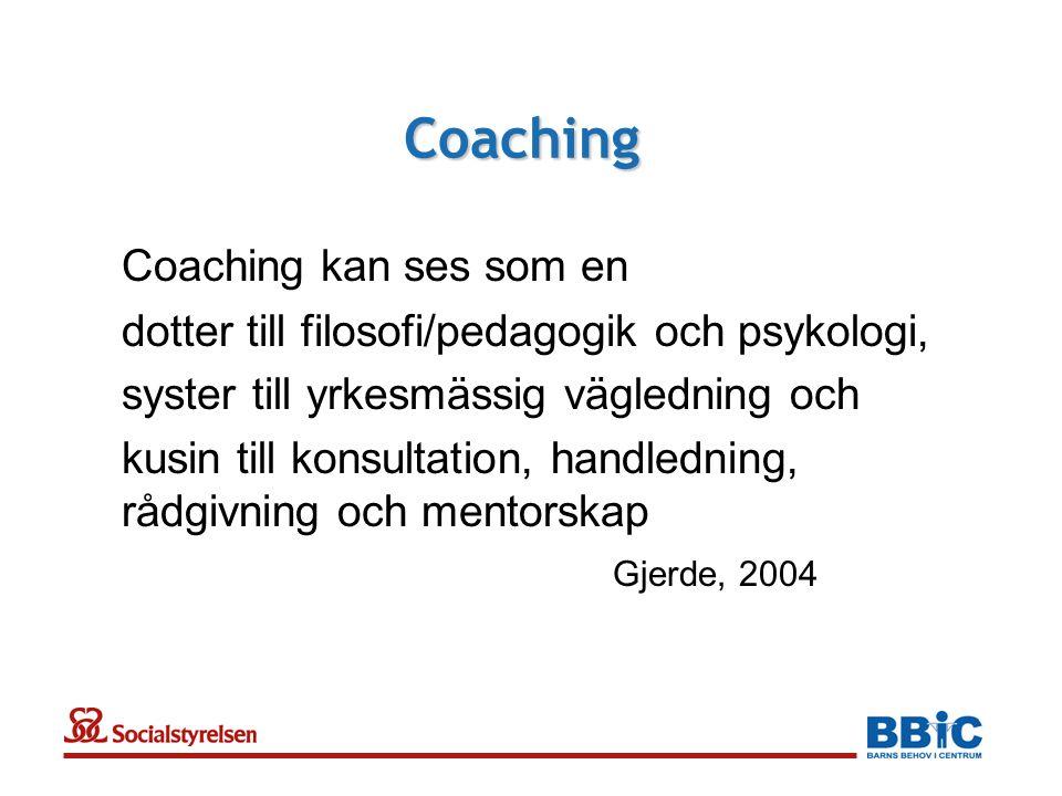 Coaching Coaching kan ses som en