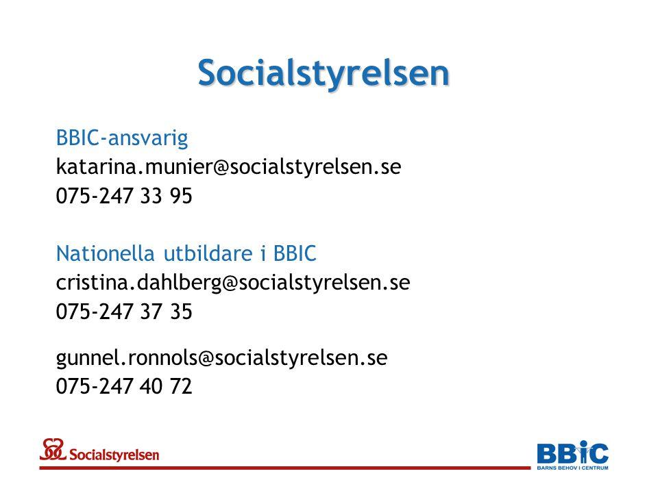 Socialstyrelsen BBIC-ansvarig katarina.munier@socialstyrelsen.se