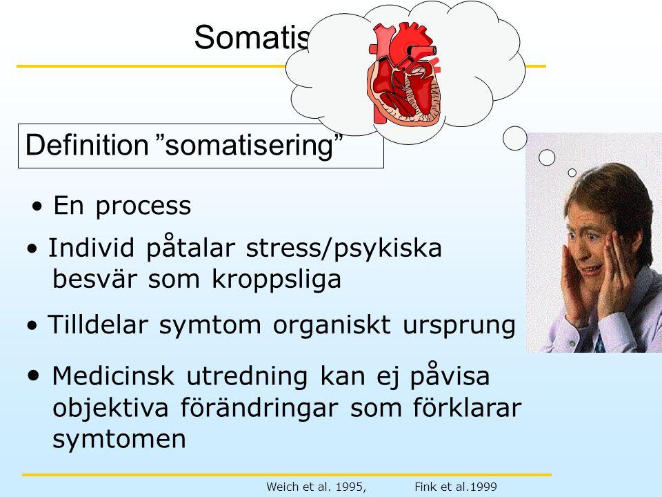 Somatisering Definition somatisering