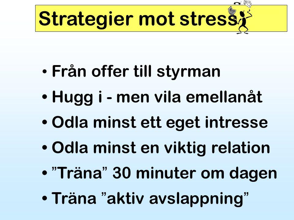 Strategier mot stress Från offer till styrman