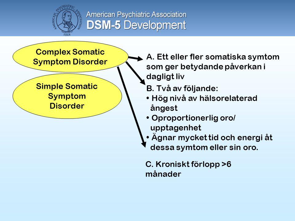 Complex Somatic Symptom Disorder