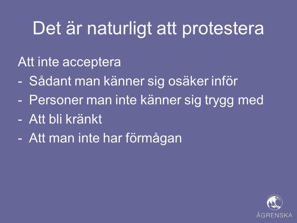Det är naturligt att protestera