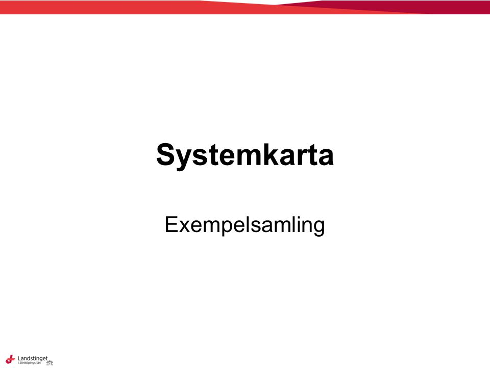 Systemkarta Exempelsamling