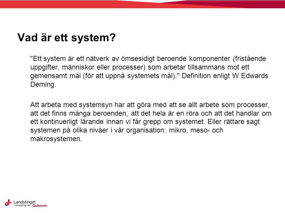 Vad är ett system