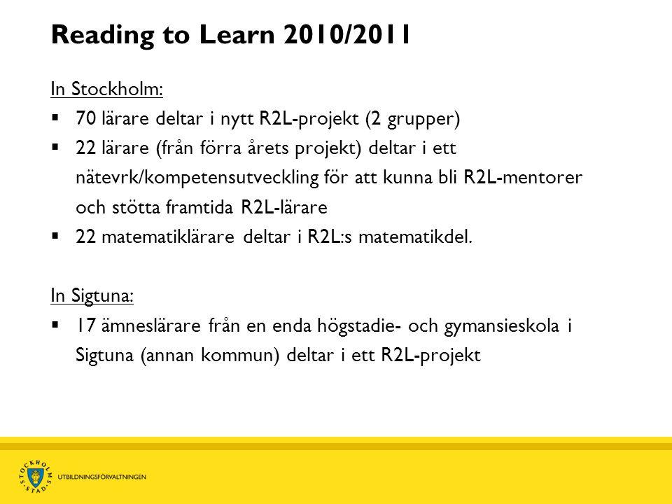 Varför valde vi Reading to Learn