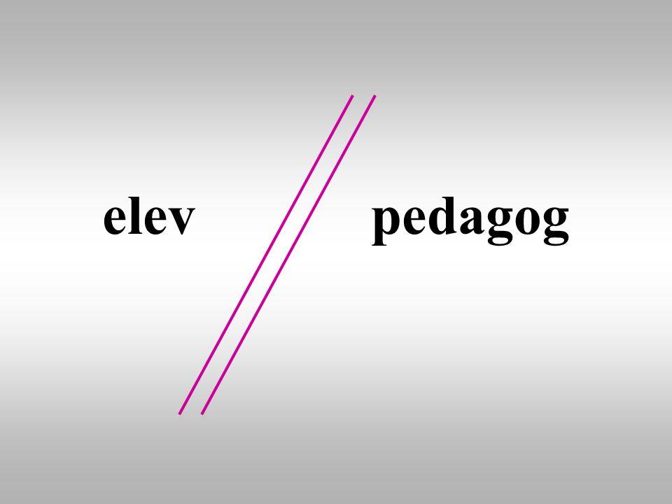 elev pedagog