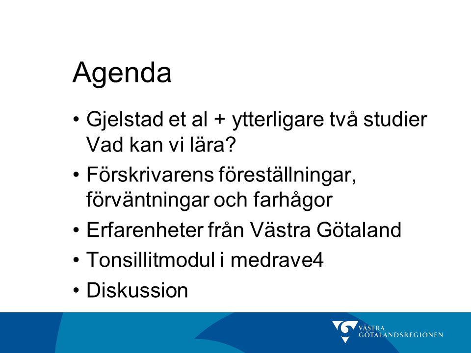 Agenda Gjelstad et al + ytterligare två studier Vad kan vi lära