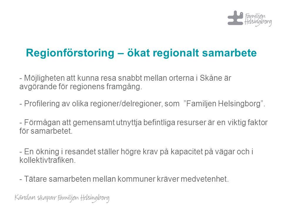Regionförstoring – ökat regionalt samarbete