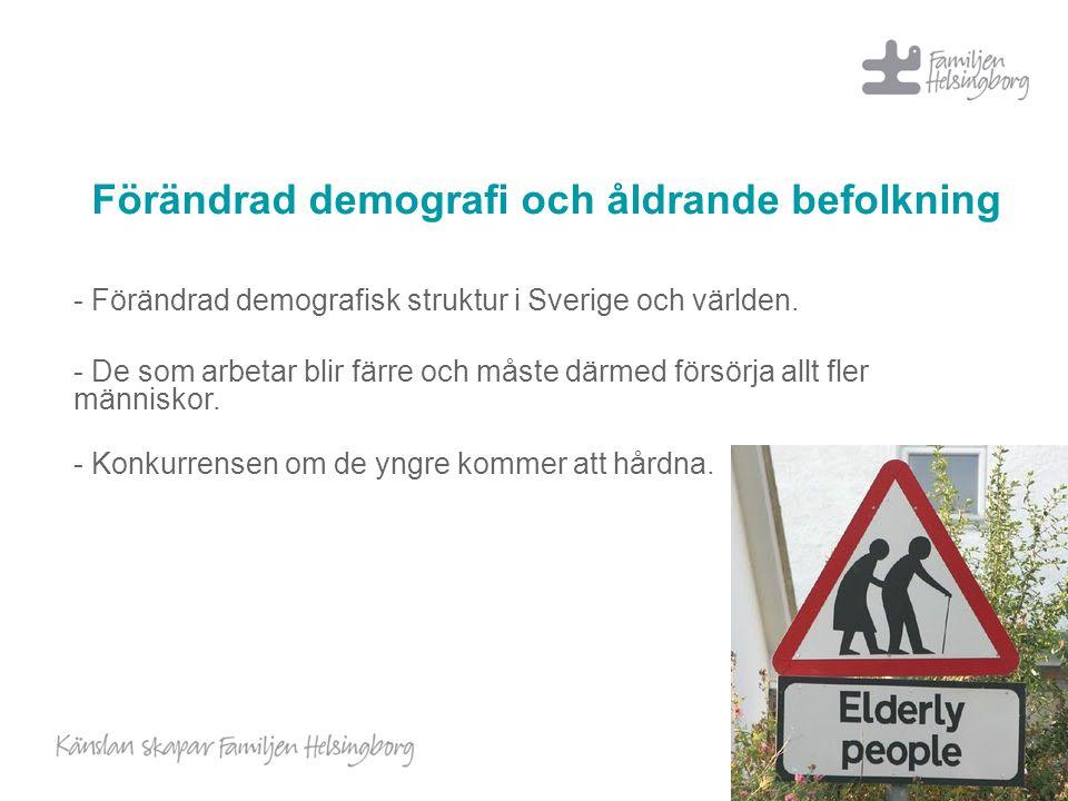 Förändrad demografi och åldrande befolkning