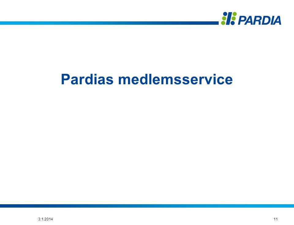 Pardias medlemsservice
