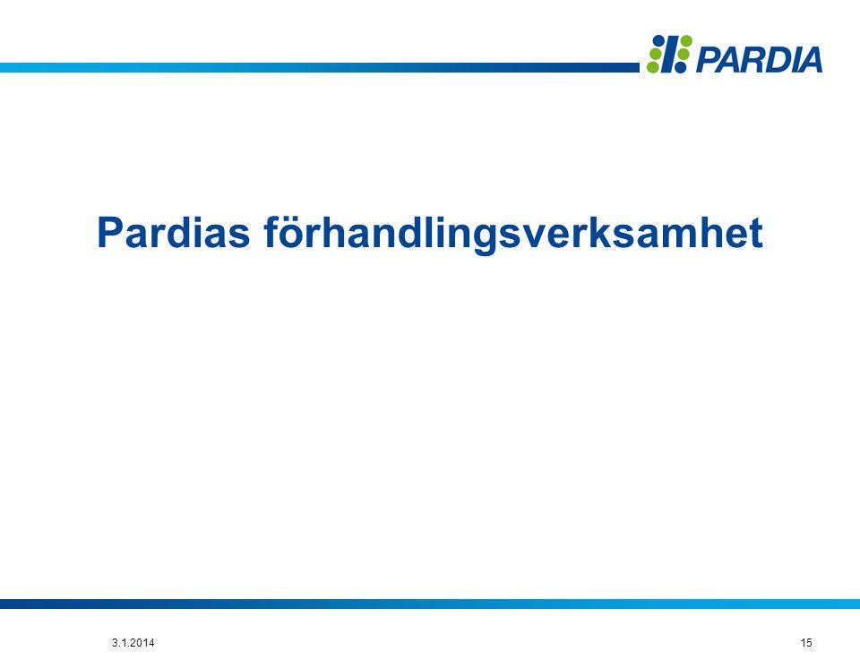 Pardias förhandlingsverksamhet