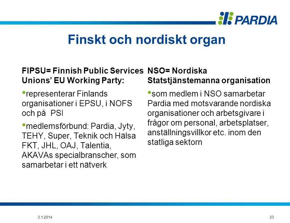 Finskt och nordiskt organ