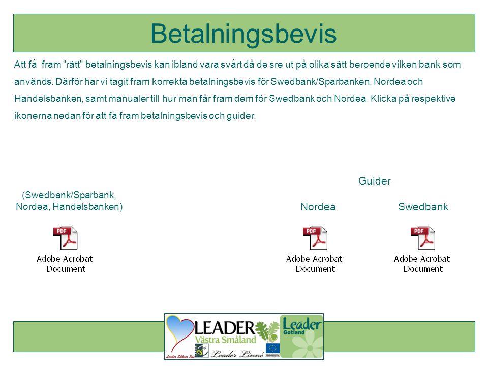 (Swedbank/Sparbank, Nordea, Handelsbanken)