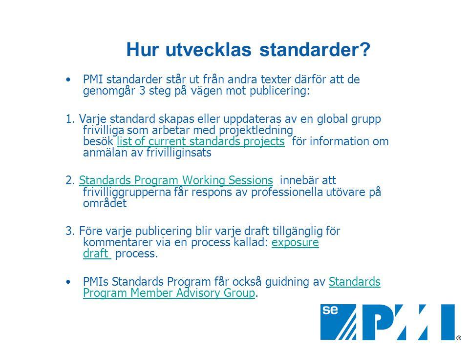 Hur utvecklas standarder