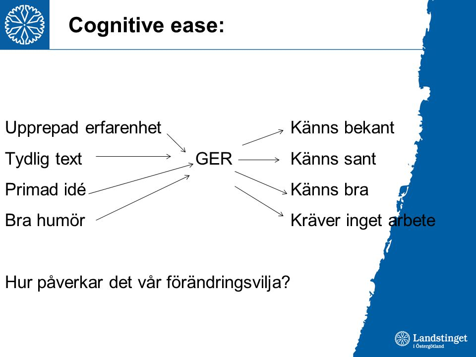 Cognitive ease: