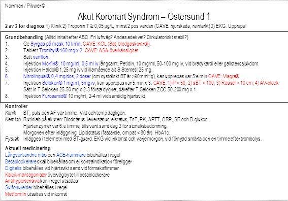 Akut Koronart Syndrom – Östersund 1