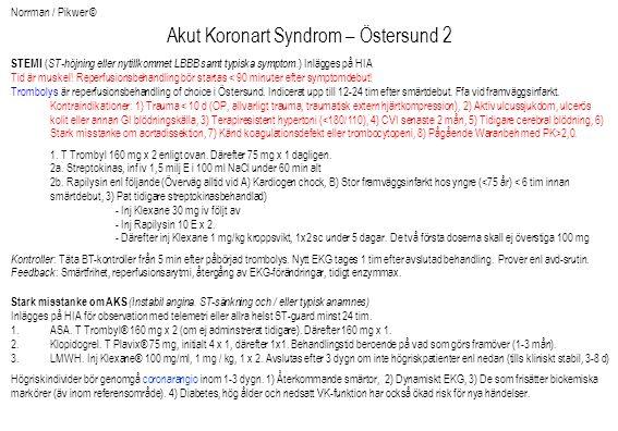 Akut Koronart Syndrom – Östersund 2