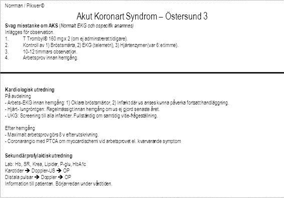 Akut Koronart Syndrom – Östersund 3