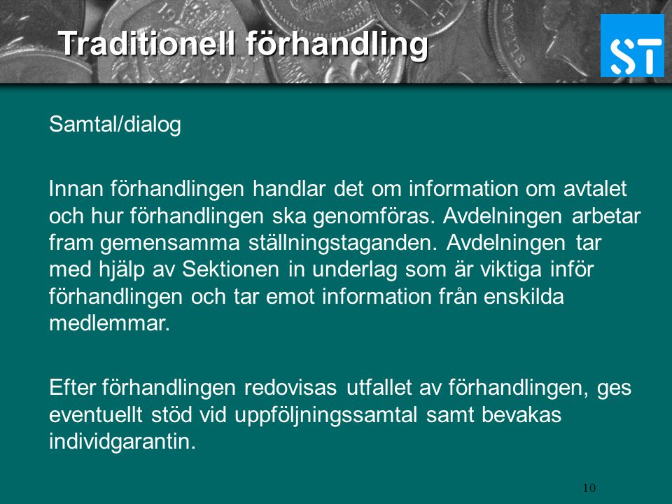 Traditionell förhandling